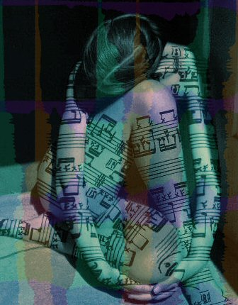 lady with musical notes